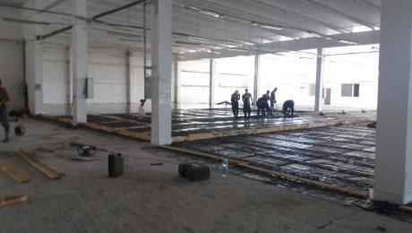 Изграждане на нови индустриални подове