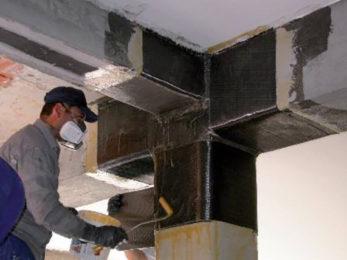 Структурно усилване с карбонови платна и ламели