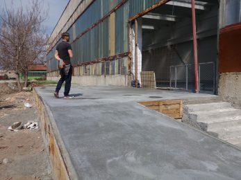 Рампа - шлайфан бетон
