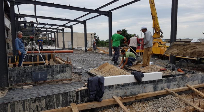 Изграждане бетонови настилки